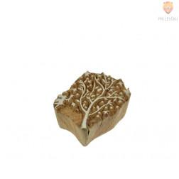 Lesena štampiljka Drevo in vila 6x4cm 1 kos