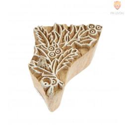 Lesena štampiljka Božično drevce 6x3,5cm 1 kos