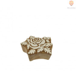 Lesena štampiljka Vrtnica 6x4cm 1 kos