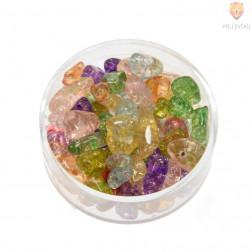 Perle poldragi kamni - lomljenci prosojni barvani, miks, 18g