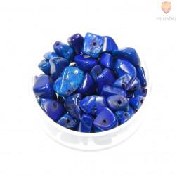 Perle poldragi kamni - barvani temno modri, 18g