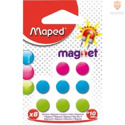 Magneti 10mm barvni 8 kosov