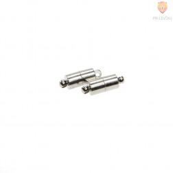 Magnetni zaključek 10 x 5 mm, platinast, 2 kos
