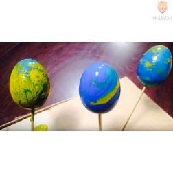 Komplet barv in jajc za marmoriranje