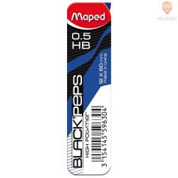 Mine za tehnični svinčnik Maped 0,5 HB 12 kosov