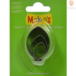 Kovinski modelčki za izrezovanje 3 kosi 3 različne velikosti Listki