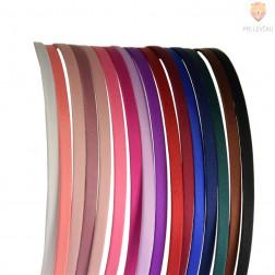 Obroč za lase 5 mm s tekstilom različne barve 1 kos