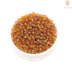 Perle mavrične rumeno-oranžne 3mm 17g