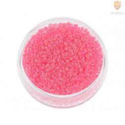 Perle okrogle prozorne z rožnato sredico 2,2mm 17g