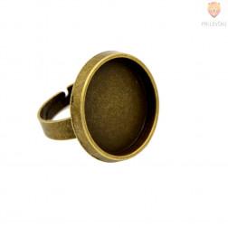 Okrogla osnova za prstan barva starega zlata 1 kos