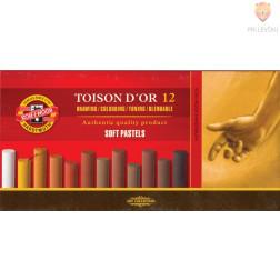 Mehki suhi pasteli Toison D'or rjavi odtenki 12 kosov