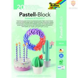Blok pastelnega barvnega papirja in kartona format A4 20 listov