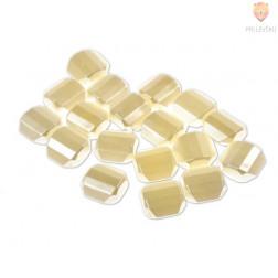 Perle akrilne bele - pravokotne zaobljene, 20 g