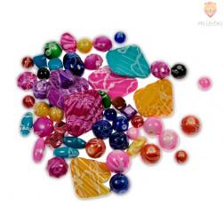 Akrilne perle različnih barv in oblik 1, 40 g