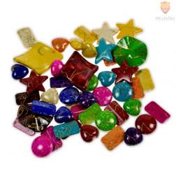 Akrilne perle različnih barv in oblik, 40 g
