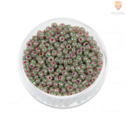 Perle dvobarvne bež 3mm 17g