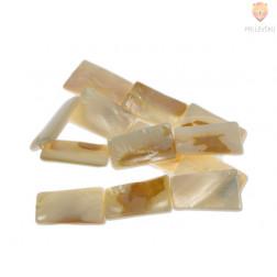 Perle iz školjk - štirikotne 16 x 29 mm 1 niz cca 12  kosov