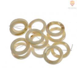 Perle iz školjk - okrogle z luknjo 30 mm 1 niz cca 12 kosov