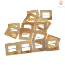 Perle iz školjk - kvadratne z luknjo 25 x 25 mm 1 niz cca 15 kosov