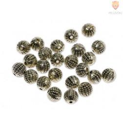 Perle kovinske okrogle, 24 kos