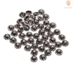 Perle kovinske - kapice, 48 kos