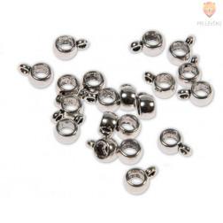 Perle kovinske obešanke 6 mm, 20 kos