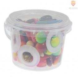 Akrilne perle miks barv in oblik v dozi 200g