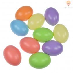 Jajca plastična pastelnih barv 6cm 10 kosov