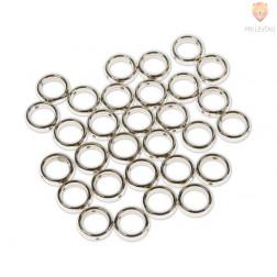 Plastični členi kovinski izgled KROG 15mm 30 kosov