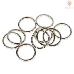 Plastični členi kovinski izgled KROG 34mm 10 kosov
