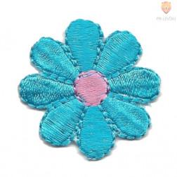 Samolepilni našitek mali - Modra rožica 3x3cm