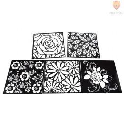 Šablone za izdelavo dekoracij Rože 5 kosov