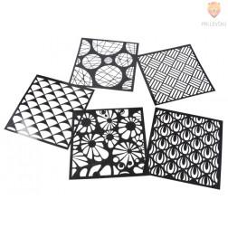 Šablone za izdelavo dekoracij Krogi in listki 5 kosov