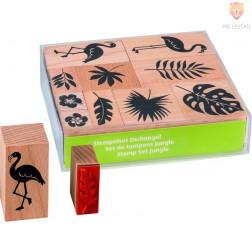 Štampiljke lesene Džungla 10 kosov