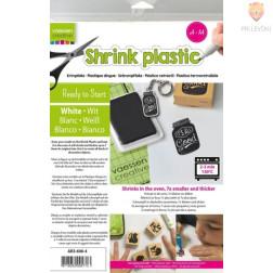 Shrink skrčljiva plastika A4 bela 4 kosi