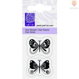 Prozorna silikonska štampiljka Dva metuljčka 2 kos