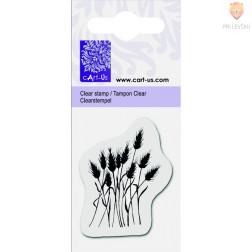 Prozorna silikonska štampiljk Travniške rože 1 kos