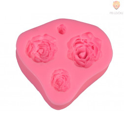 Silikonski kalup  4 vrtnice 7x6,5cm 1 kos