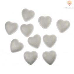 Srčki iz stiroporja 5 cm 10 kosov