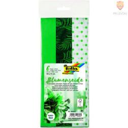 Svileni papir zeleni miks 50x75 cm 3 kosi
