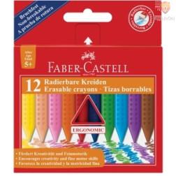 Voščenke tanke Grip trikotne Faber-Castell 12 kosov