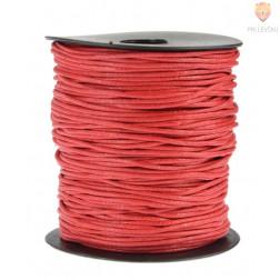 Tekstilna povoščena vrvica rdeča 2mmx80m