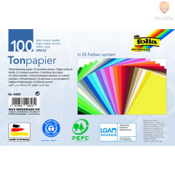 Tonpapir barvni papir A4 130g/m2 različne barve 100 listov