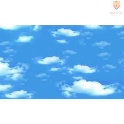 Transparentni barvni papir z vzorcem Oblaki 50 x 70 cm