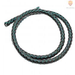 Vrvica usnjena z barvno žico, 6 mm x 0,5 m