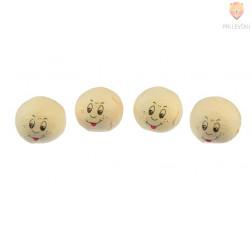 Vatne kroglice z navihanim obrazom kožne barve 25mm 4 kosi