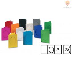 Set voščilnic z ovalnim izrezom in kuvert 11x18 cm 3 kosi