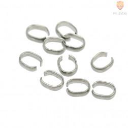 Zaključek za nakit kovinski 9 mm, barva antracita, 10 kos