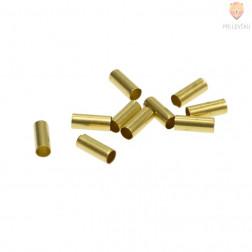 Zaključek za nakit kovinski tulec 7 x 2 mm, zlate barve, 10 kos