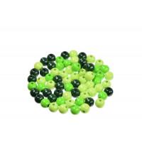 Lesene perle okrogle barvni miks 10mm 50 kosov